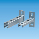 15105150 strut wall bracket 41x21x2,5 length 150mm strut wall bracket 41x21x2,5 length 150mm (10 pieces/box) strut console