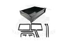 LMGAM1253401 Rear Cargo Box Precedent - 111x70x22cm with Hardware Used on: Club Car Precedent.